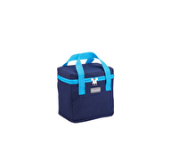 KitchenCraft Lunch Navy and Turquoise 5 Litre Cool Bag