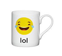 KitchenCraft Set of Four Bone China LOL Emoji Face Mini Mugs