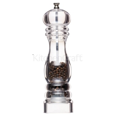 MasterClass Filled Acrylic Large Capstan Pepper Mill