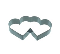 Kitchen Craft 11.5cm Double Heart Shaped Cookie Cutter