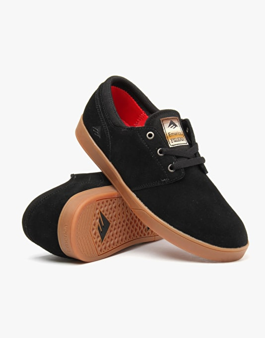 Emerica The Figueroa Skate Shoes - Black/Gum