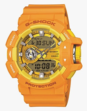 G-Shock GA-400A-9AER Mono Colour Watch - Yellow