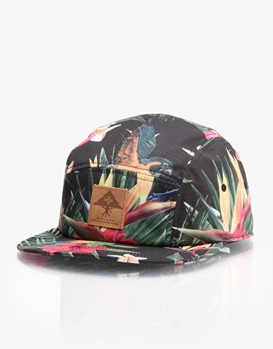 LRG Hawaian Safari 5 Panel Cap - Black