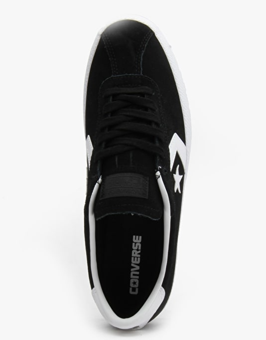 Converse Break Point Skate Shoes - Black/White (Suede)