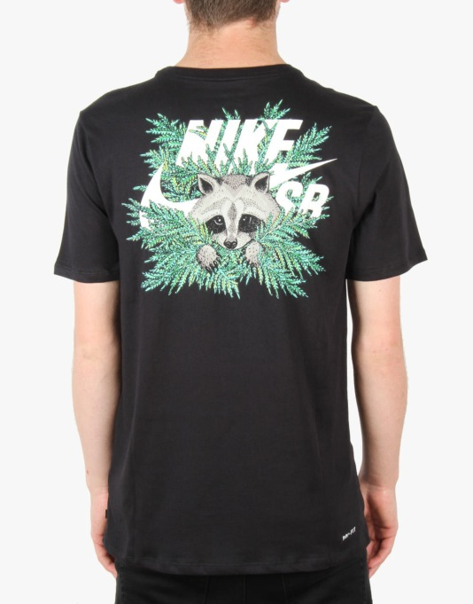 Nike SB Dri-FIT Raccoon Fern T-Shirt - Black/Sail
