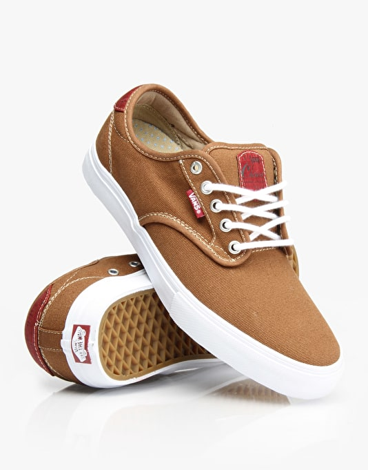Vans Chima Ferguson Pro Skate Shoes - (Cork) Rubber/Red