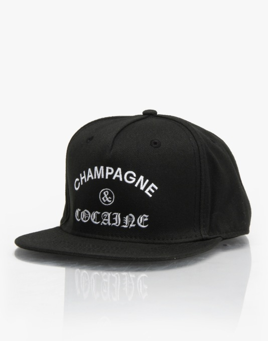 Crooks & Castles Champagne and Cocaine Snapback Cap - Black