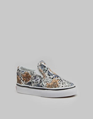 Vans Classic Slip-On Toddlers Skate Shoes - (Wild Cat) True White