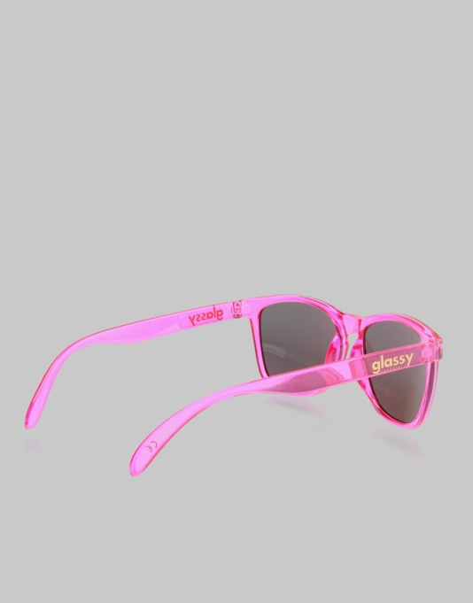 Glassy Sunhater Deric Cancer Hater Sunglasses  - Pink/Pink Mirror