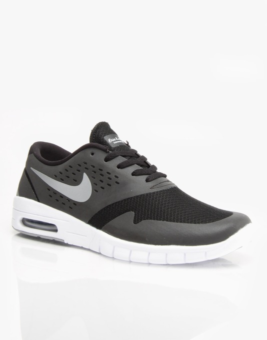 Nike SB Eric Koston 2 Max Shoes - Black/Metallic Silver/White