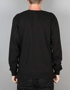 HUF Original Logo Crewneck Sweatshirt - Black