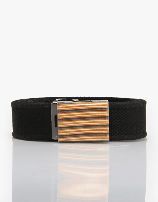 SESH Recycled Skateboard Web Belt - Black/Multi Ply