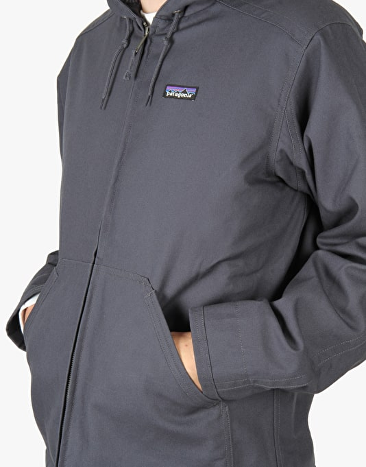 Patagonia Lined Canvas Hoody Jacket - Smolder Blue