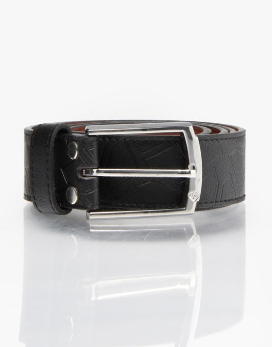 Diamond Supply Co. Pressed Diamond Leather Belt - Black