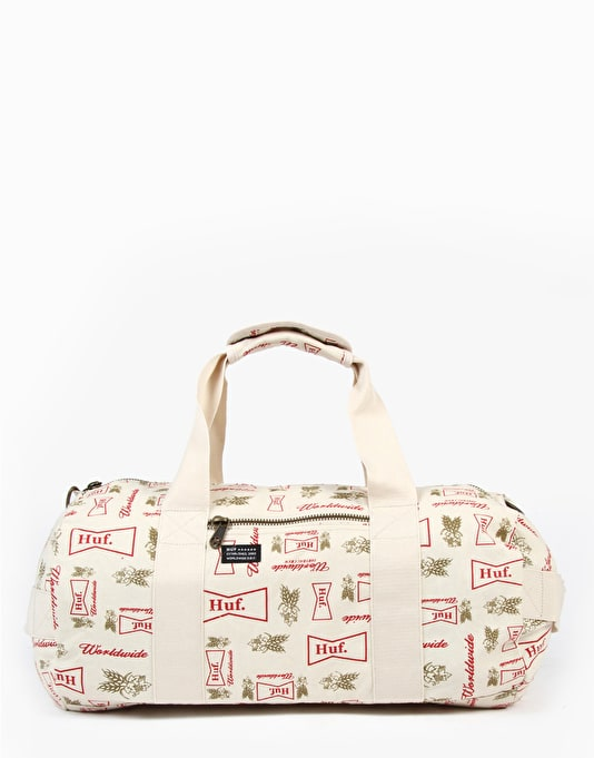 HUF Drink Up Weekend Duffel Bag - Cream