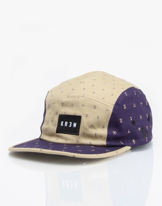Kr3w Coven 5 Panel Cap - Navy/Brown
