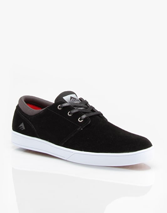 Emerica The Figueroa Slip On Skate Shoes - Black/White/White