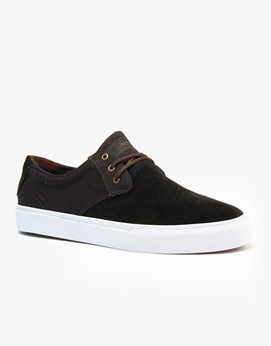 Lakai MJ Skate Shoes - Black/White Suede