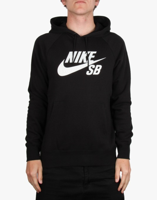 Nike SB Icon Crackle Pullover Hoodie - Black/White