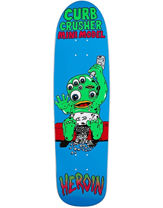 Heroin Mini Curb Crusher Team Deck - 8.25""