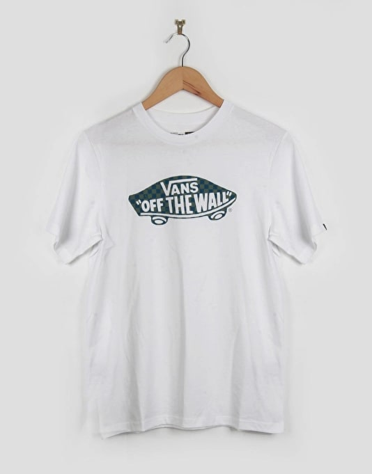 Vans OTW Checker Fill Boys T-Shirt - White/Celestial/Wreath