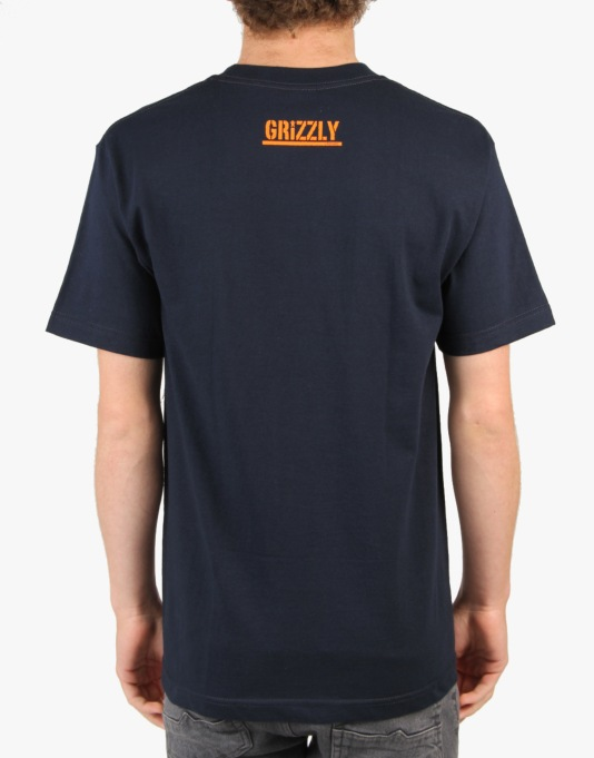 Grizzly Territory T-Shrit - Navy