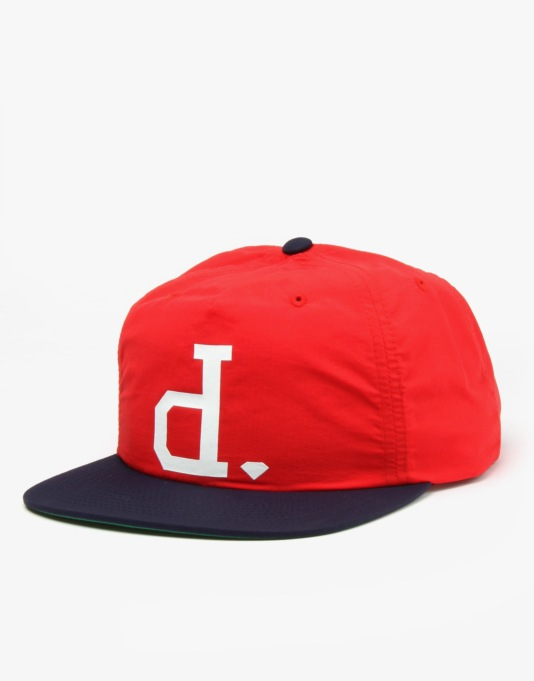 Diamond Supply Co. Un Polo Snapback Cap - Red/Navy