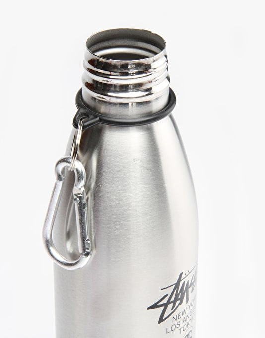 Stüssy World Tour Water Bottle - Silver