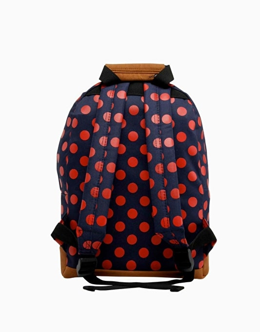 Mi-Pac Mini All Polka Backpack - Navy/Bright Red