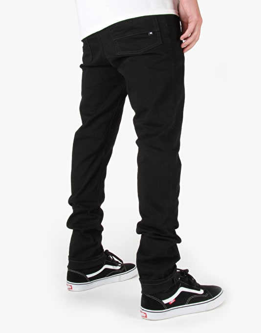 DC Worker Slim Jeans - Black/Black Rinse