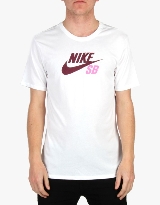 Nike SB Dri-Fit Icon Logo T-Shirt - White/White (Villain Red)