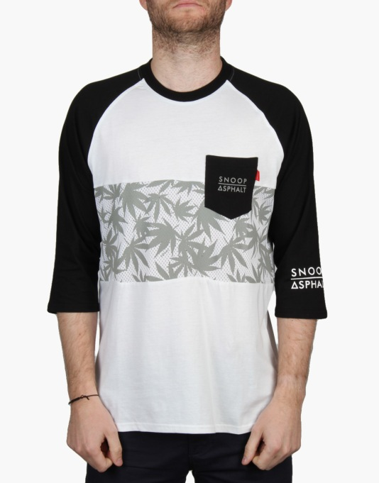 Asphalt Yacht Club x Snoop Dogg Kush Raglan T-Shirt - White/Black