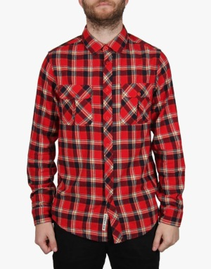 Emerica Hard Luck L/S Flannel Shirt - Red