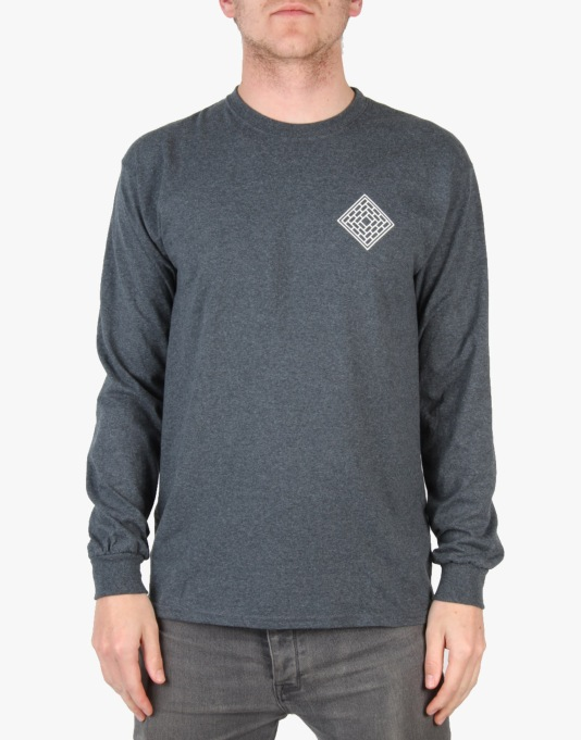 The National Skateboard Co. Black Prince L/S T-Shirt - Dark Grey