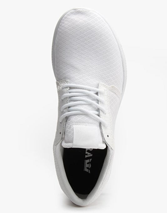 Supra Hammer Run Shoes - White Croc/White