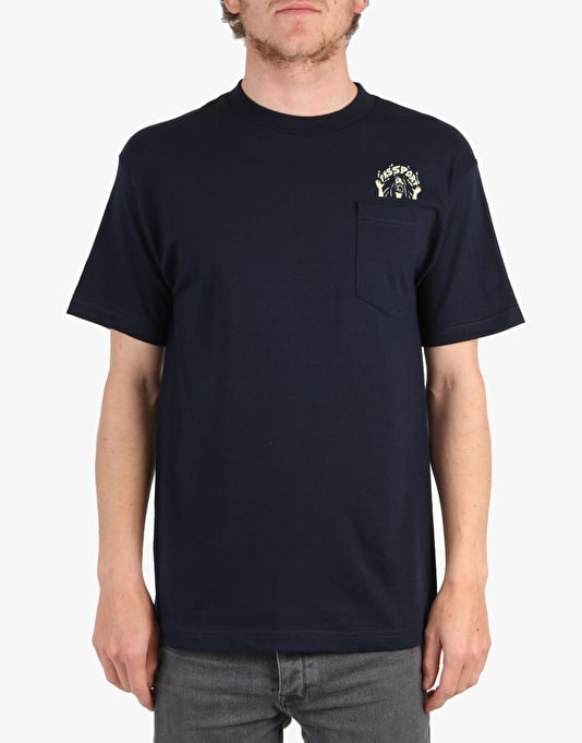 Pass Port Magic Man Pocket T-Shirt - Navy