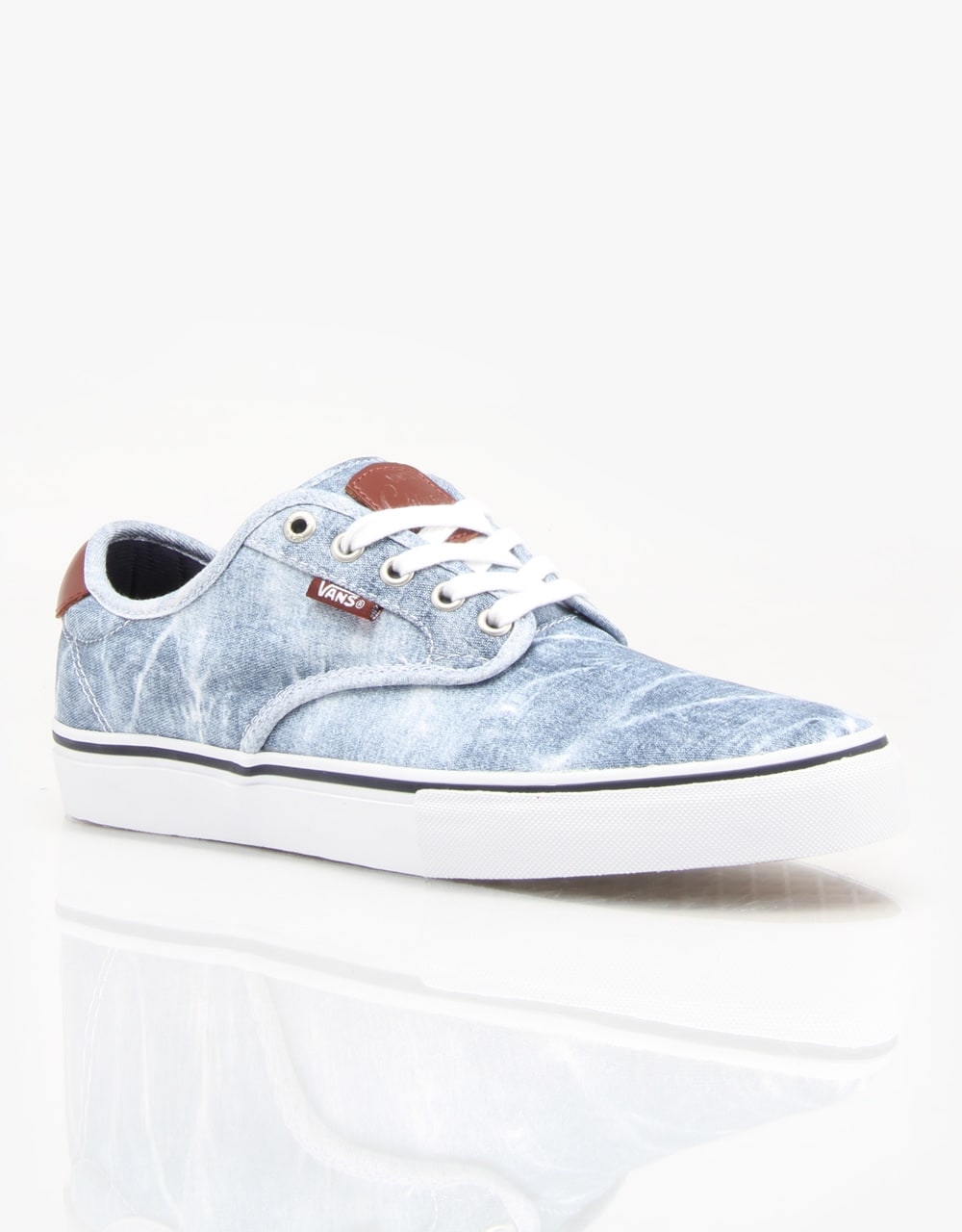 470a5db9d07d Vans Chima Ferguson Pro Skate Shoes - (Acid Wash) Light Navy