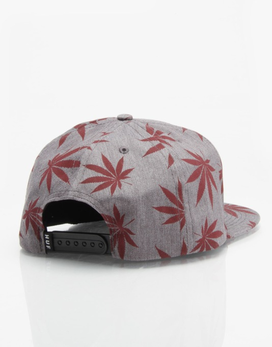 HUF Plantlife Box Logo Snapback Cap - Heather Grey