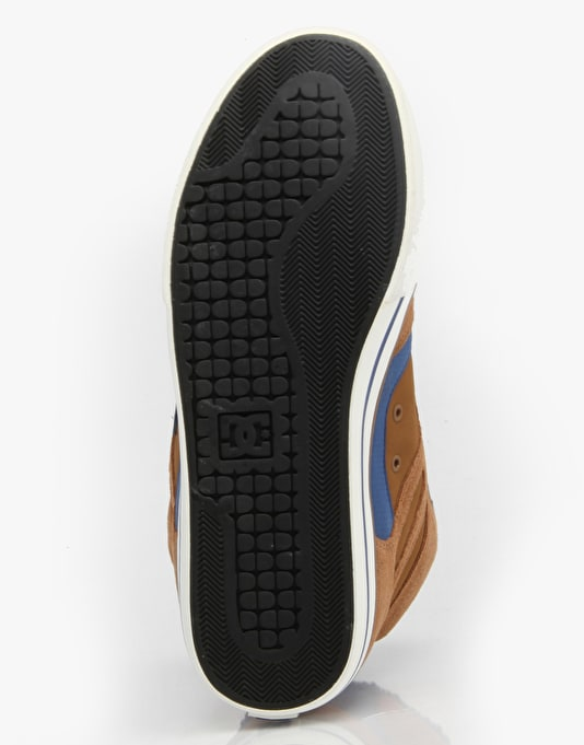 DC Spartan Hi WC WNT Skate Shoes - Brown/Blue