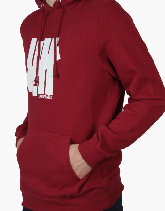 Undefeated Strike Undefeated Basic Pullover Hoodie - Burgundy