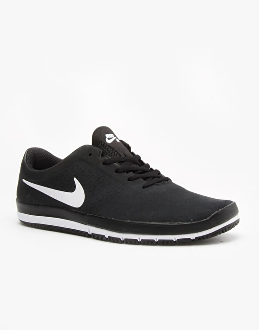Nike SB Free Nano Skate Shoes - Black/White