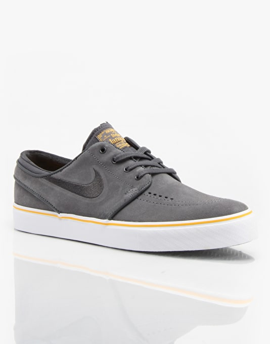 Nike SB Zoom Stefan Janoski Skate Shoes - Dark Grey/Gold/Black