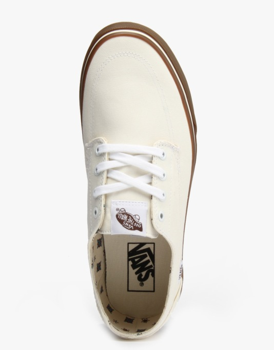 Vans Brigata Skate Shoes - (Canvas) Bone White/ Gum