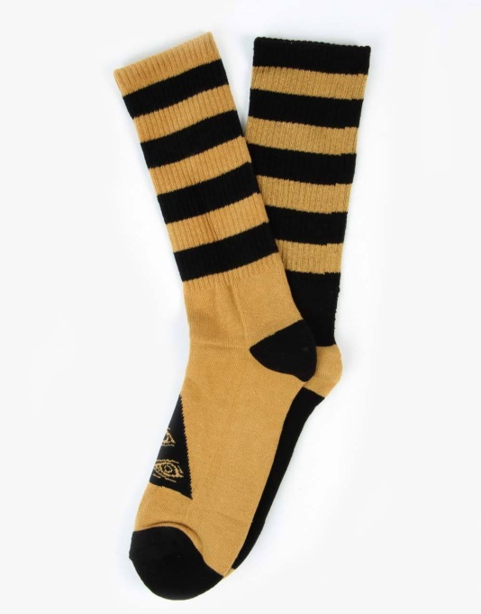 Welcome Triangle Socks (Odd Socks) - Black/Gold