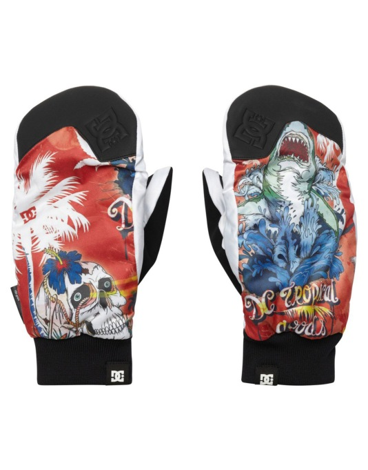DC Rippin 2015 Snowboard Mitts - Flame 6