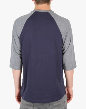 Vans OTW Raglan T-Shirt - Black Iris/Heather Grey