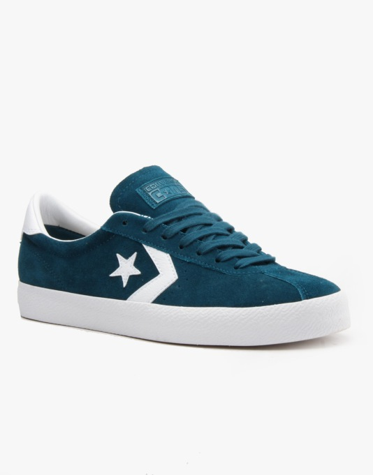Converse Cons Breakpoint Suede Skate Shoes - Kyonite/White/White