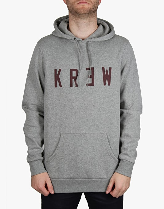 Kr3w Locker Pullover Hoodie - Grey Heather