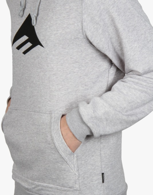 Emerica Triangle Pullover Hoodie - Grey Heather