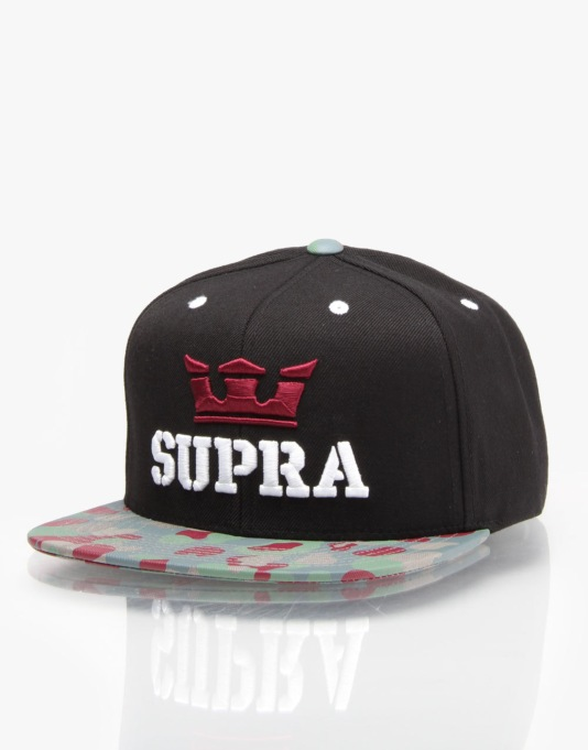 Supra Above Snapback Cap - Black/Grey Camo